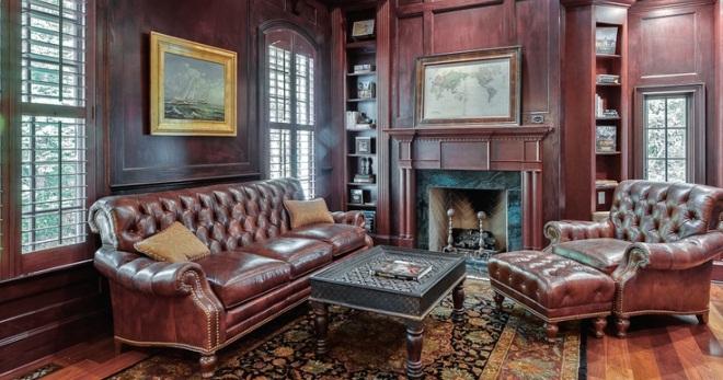 Ruang Tamu Dalam Gaya Bahasa Inggeris Reka Bentuk Dalaman Langsir Perabot Kertas Dinding
