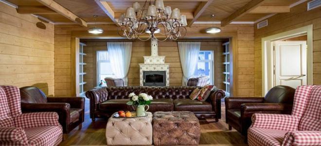 Ruang Tamu Di Sebuah Rumah Kayu